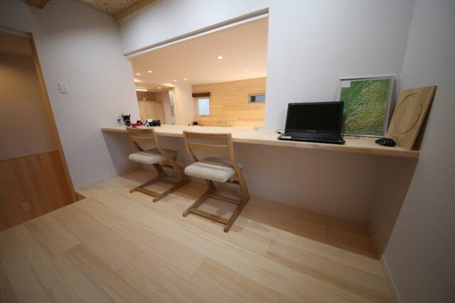 スタディコーナー - HK様邸 - もみの木の家 施工事例