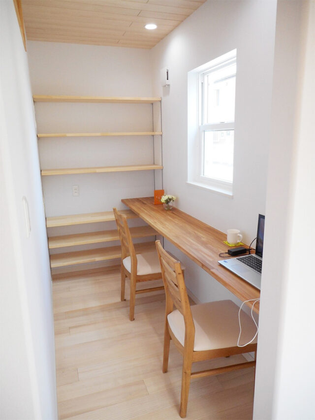 リモートワークできる書斎スペース - 新潟市西区のもみの木の家