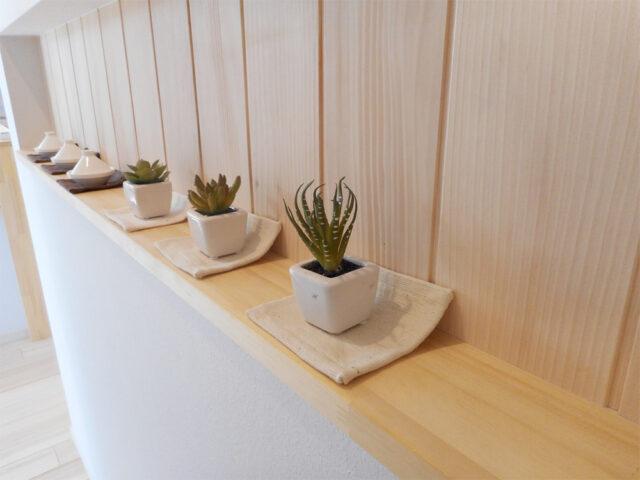 植物を飾る - 新潟市西区のもみの木の家