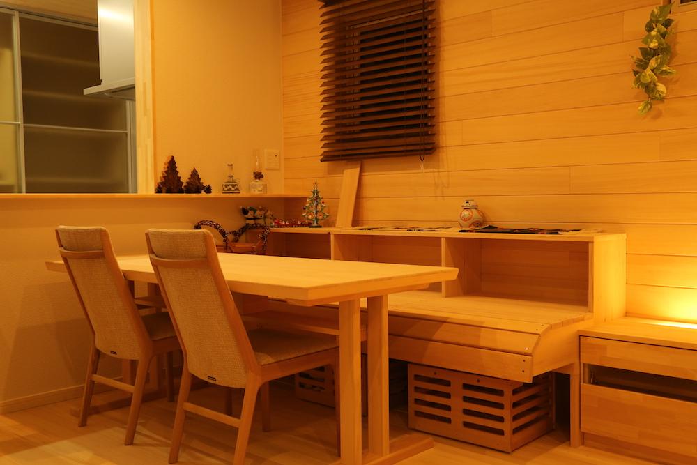 もみの木ベンチ - KK様邸 - もみの木の家 施工事例