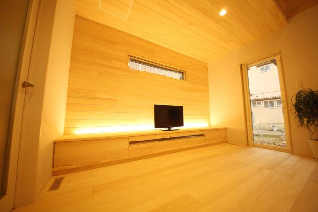 リビングTVボード - Y.K様邸 - 新潟市西区 - もみの木の家